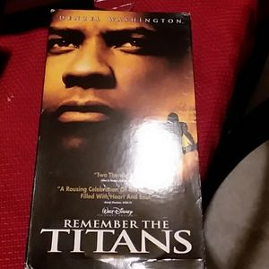 VCR Tape Remember the Titans Movie.